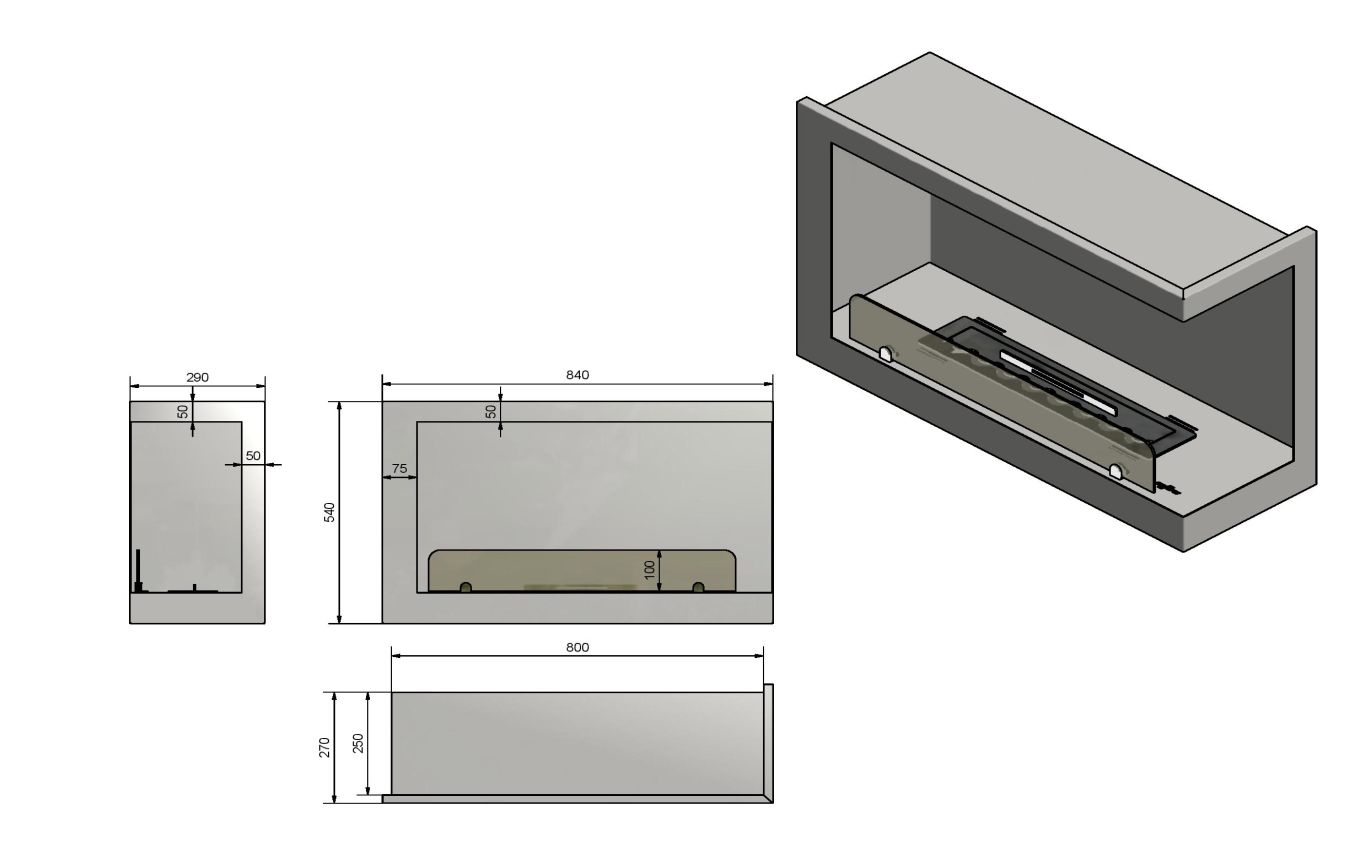 Kominek INSIDE P800 VERS1